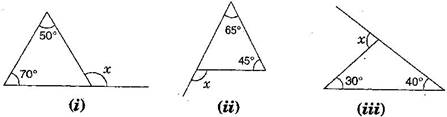 Ncert solutions for class 7 maths exercise 6 2 - Which of the following are exterior angles ...