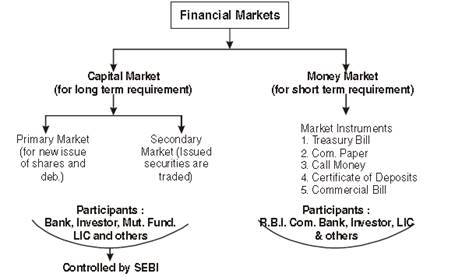 Financial Markets class 12 Notes Business Studies
